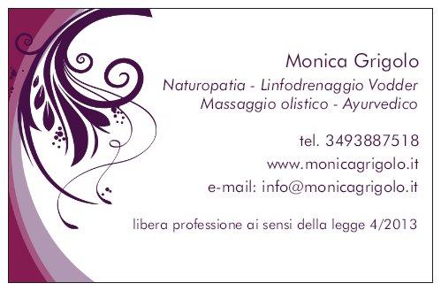 Monica Grigolo: naturopata e massaggiatrice olistica